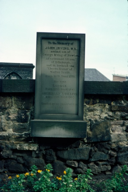 John Irvings grave, Edinburgh