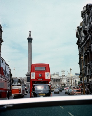 Trafalgar Sq from Ralph's MG