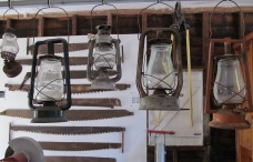 collage of a bygone era, kero lamps and saws